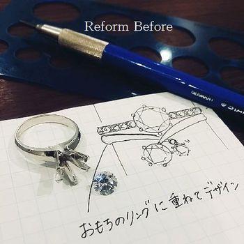 1ctダイヤリフォームプラチナリング広島アトリエ (3).jpg